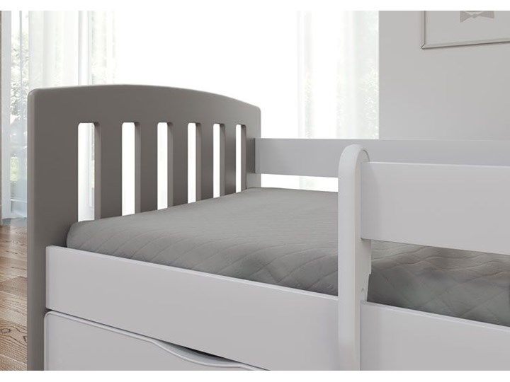Łóżko dziecięce z barierką Pinokio 2X mix 80x160 - szare Tradycyjne Kategoria Łóżka dla dzieci