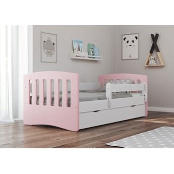 Łóżko dla dziewczynki z szufladą Pinokio 2X mix 80x180 - pudrowy róż