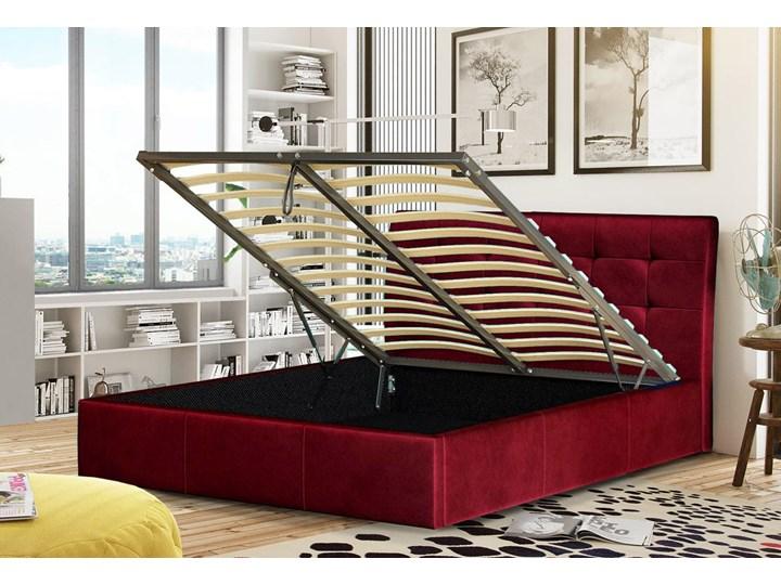 ŁÓŻKO TAPICEROWANE 140X200 Z POJEMNIKIEM - ALDO - KOLORY Kategoria Łóżka do sypialni Kolor Granatowy