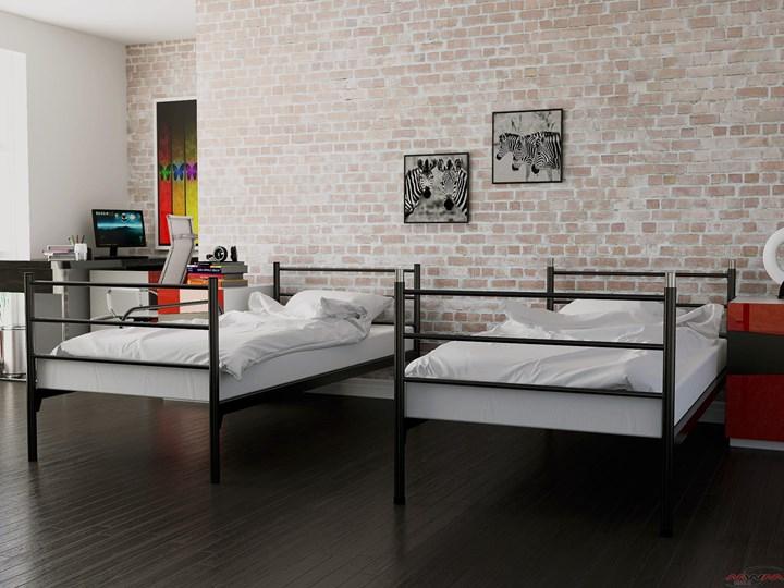 ŁÓŻKO METALOWE PIĘTROWE ROZKŁADANE 80x200 - BOSTON Rozmiar materaca 80x200 cm Łóżko piętrowe Kategoria Łóżka dla dzieci