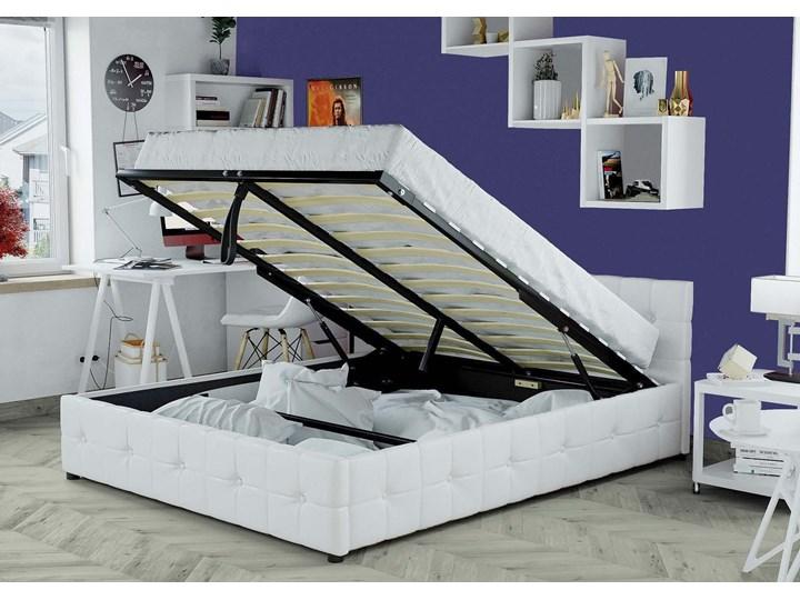 ŁÓŻKO 160x200 Z MATERACEM - GELA (SFG012B) - EKOSKÓRA BIAŁE Kategoria Łóżka do sypialni Łóżko tapicerowane Kolor Biały