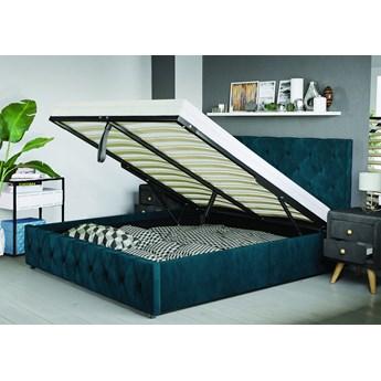 Łóżko 160x200 z materacem - BARLETTA (SFG007) - welur #77