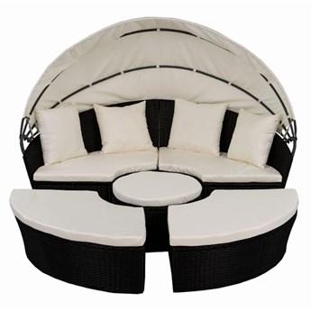 Łóżko ogrodowe okrągłe z baldachimem - Ø 1,8M - SYDNEY - ciemny brąz
