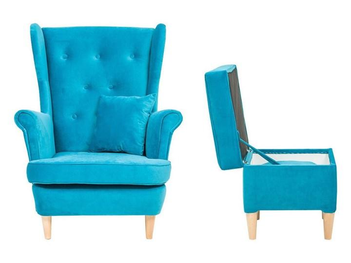 Fotel z podnóżkiem USZAK 3 / kolory do wyboru Pomieszczenie Salon Szerokość 74 cm Drewno Wysokość 103 cm Fotel uszak Kategoria Fotele do salonu