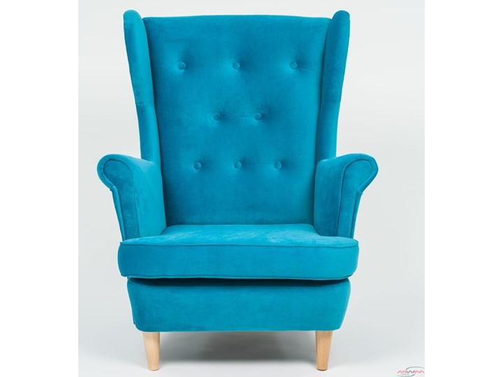 Fotel z podnóżkiem USZAK 3 / kolory do wyboru Wysokość 103 cm Drewno Szerokość 74 cm Pomieszczenie Salon Fotel uszak Kategoria Fotele do salonu