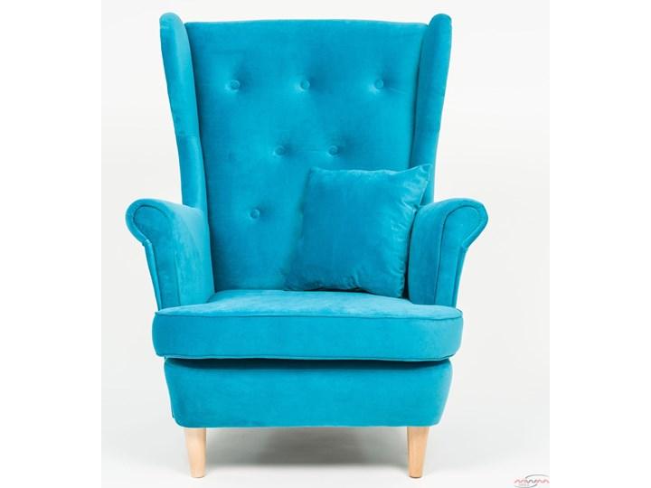 Fotel z podnóżkiem USZAK 3 / kolory do wyboru Fotel uszak Szerokość 74 cm Drewno Wysokość 103 cm Pomieszczenie Salon