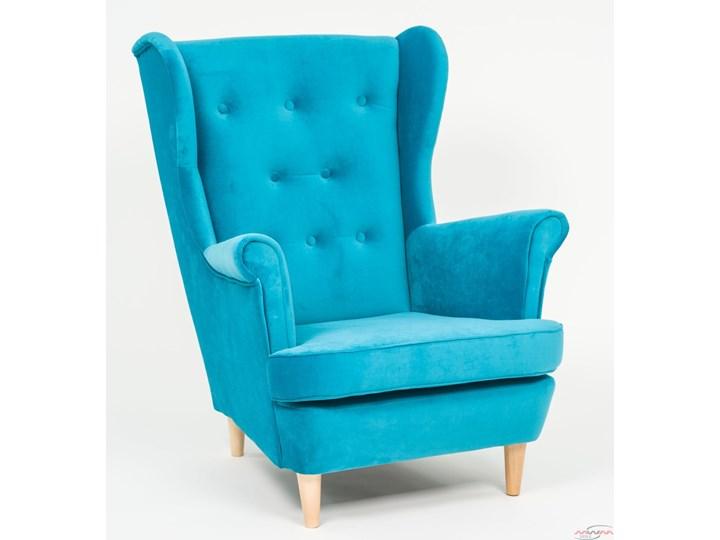 Fotel z podnóżkiem USZAK 3 / kolory do wyboru Szerokość 74 cm Pomieszczenie Salon Fotel uszak Wysokość 103 cm Drewno Kategoria Fotele do salonu