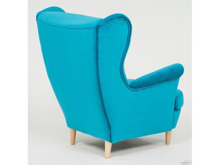 Fotel z podnóżkiem USZAK 3 / kolory do wyboru Fotel uszak Drewno Wysokość 103 cm Szerokość 74 cm Kategoria Fotele do salonu