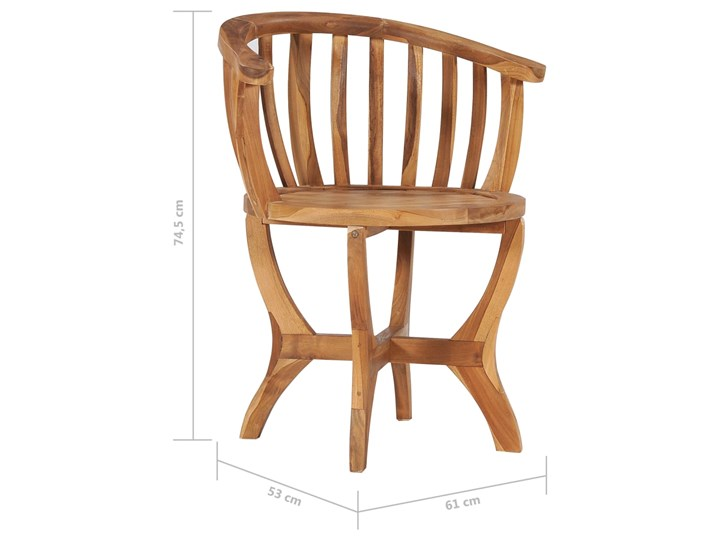 vidaXL 3-cz. ogrodowy zestaw mebli bistro, lite drewno tekowe Kategoria Zestawy mebli ogrodowych