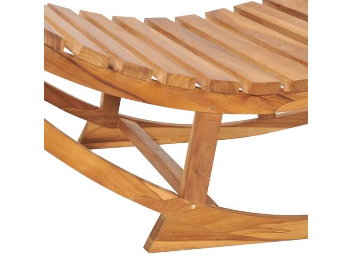 vidaXL Leżak bujany, lite drewno tekowe Kategoria Leżaki ogrodowe Bujane Kolor Brązowy