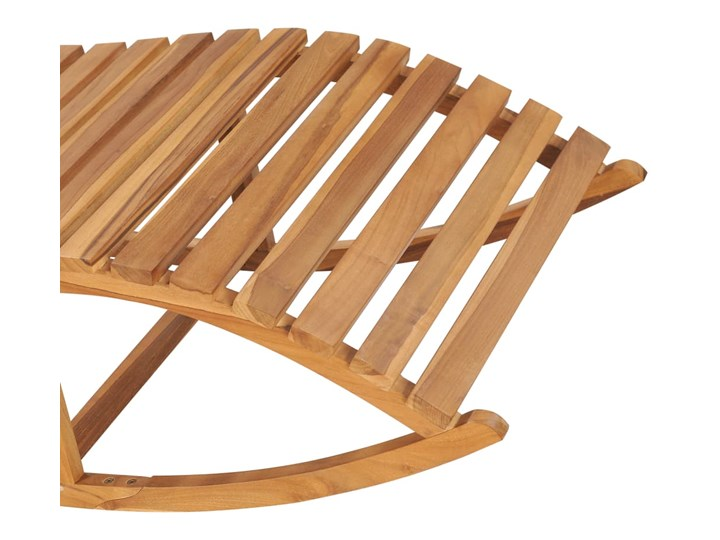 vidaXL Leżak bujany, lite drewno tekowe Bujane Kategoria Leżaki ogrodowe