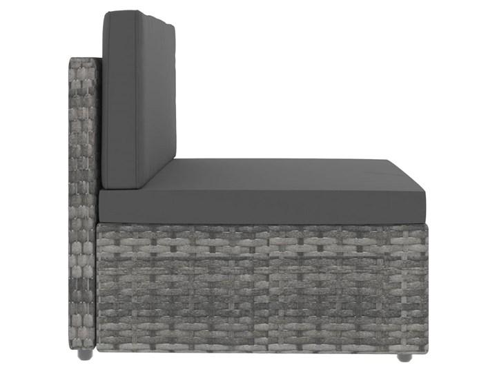 vidaXL Sofa modułowa 2-osobowa, rattan PE, szara