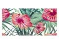 Dekor Flower Power Ceramstic 60 x 30 cm Płytki ścienne Prostokąt Płytka dekoracyjna Płytki łazienkowe 30x60 cm Kolor Zielony
