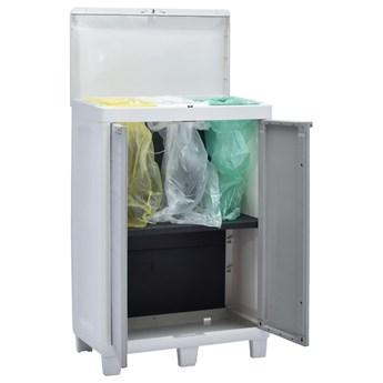 VidaXL Ogrodowy pojemnik do segregacji odpadów, 3 worki, 65x38x102 cm