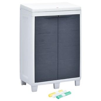 VidaXL Ogrodowy pojemnik do segregacji odpadów + 3 worki, 65x38x102 cm