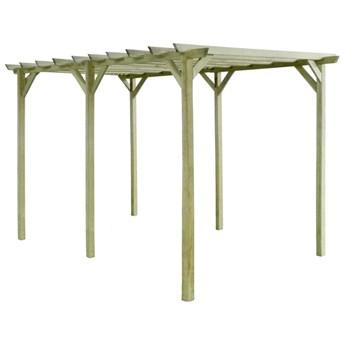 VidaXL Pergola ogrodowa, 4x2x2 m, impregnowane drewno sosnowe