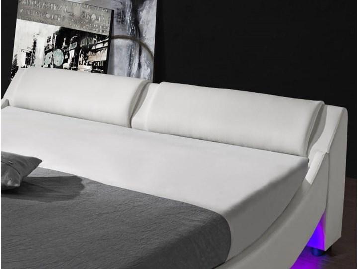 ŁÓŻKO 160x200 Z MATERACEM - BOLZANO (868) - EKOSKÓRA BIAŁE Kategoria Łóżka do sypialni Łóżko skórzane Łóżko tapicerowane Kolor Biały