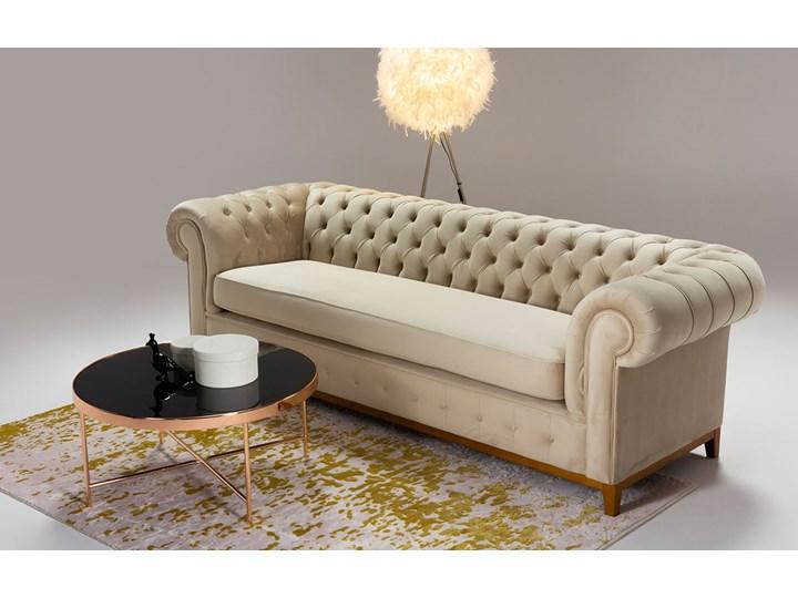 Sofa trzyosobowa Chesterfield Grand Kolor Beżowy Typ Pikowane