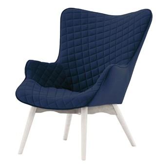 Fotel uszak z przeszyciami Ducon Velvet