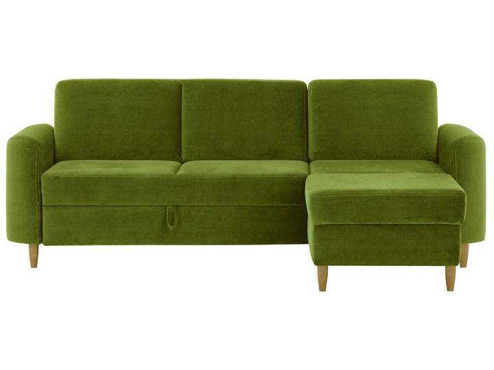 Narożnik Elegance z funkcją spania i pojemnikiem na pościel Stała konstrukcja Kolor Zielony Wysokość 87 cm Szerokość 234 cm Wykonanie siedziska Silikon