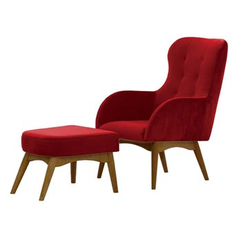 Fotel uszak z podnóżkiem Hollis