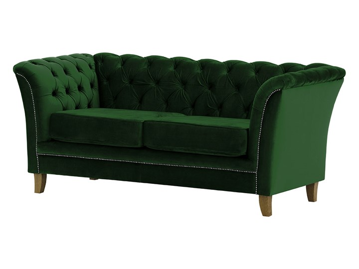 Sofa dwuosobowa Karin Styl Vintage Chesterfield Nóżki Na nóżkach