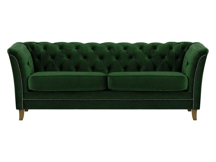 Sofa trzyosobowa Karin Szerokość 211 cm Głębokość 81 cm Chesterfield Boki Z bokami Nóżki Na nóżkach