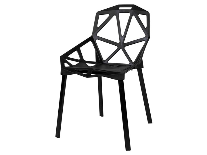 Krzesło metalowe KAZADI CZARNE