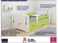 łóżko dziecięce z szufladą pinokio 3x 80x160 - zielone