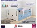 łóżko dla chłopca z szufladą pinokio 3x 80x180 - niebieskie