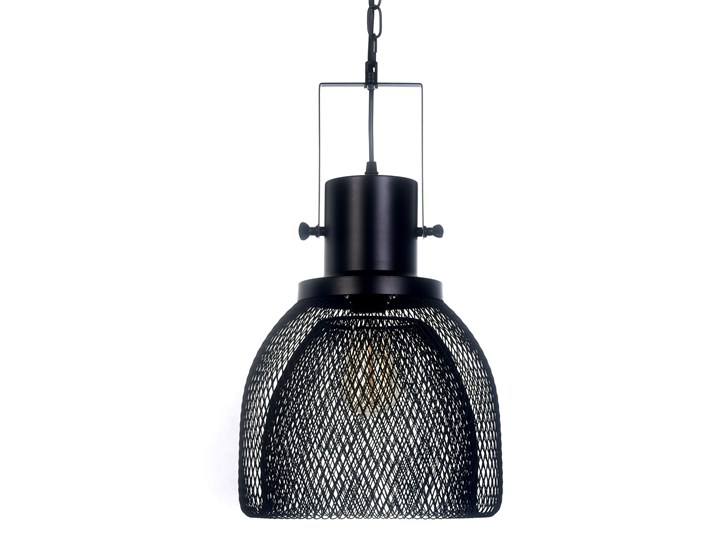LAMPA WISZĄCA CZARNA FRATTON Lampa z kloszem Lampa druciana Metal Lampa z abażurem Ilość źródeł światła 1 źródło Styl Nowoczesny