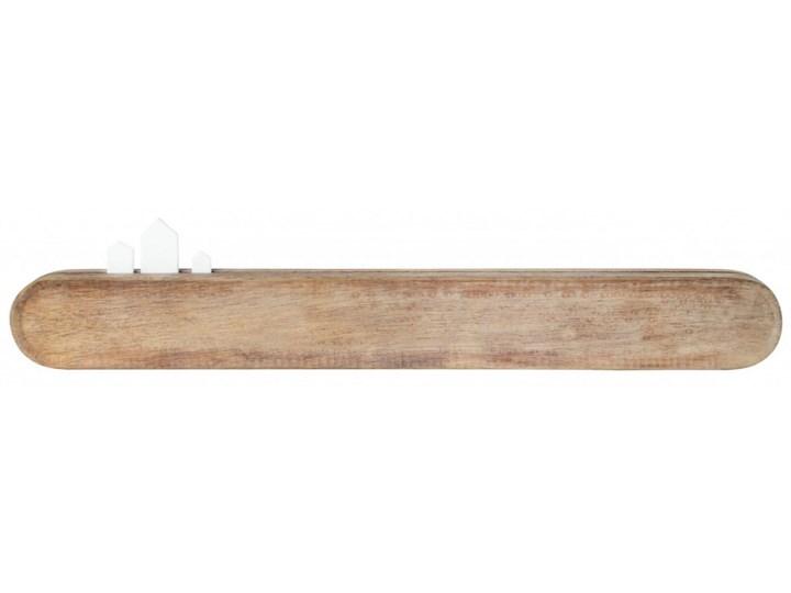 listwa magnetyczna na klucze 40cm porcelanowe domki RAEDER Metal Listwa na klucze Drewno Kolor Beżowy