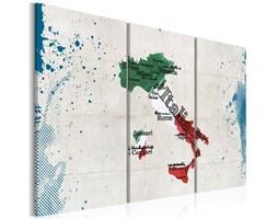 Obraz - Mapa Włoch - tryptyk