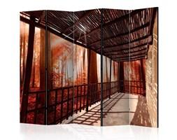 Parawan 5-częściowy - Natura: Leśny taras II [Room Dividers]