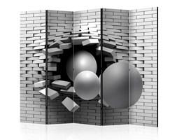 Parawan 5-częściowy - Cegła w ścianie II [Room Dividers]