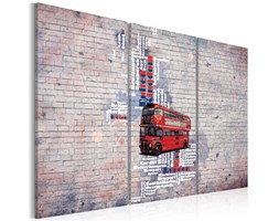 Obraz - Routemasterem dookoła Wielkiej Brytanii - tryptyk
