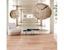 Fototapeta - Latające krążki drewna