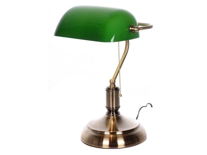 KLASYCZNA LAMPA BANKIERSKA BIURKOWA ZIELONA BANKER CLASSIC Lampa gabinetowa Lampa regulowana Kolor Zielony Lampa biurkowa Kategoria Lampy biurowe