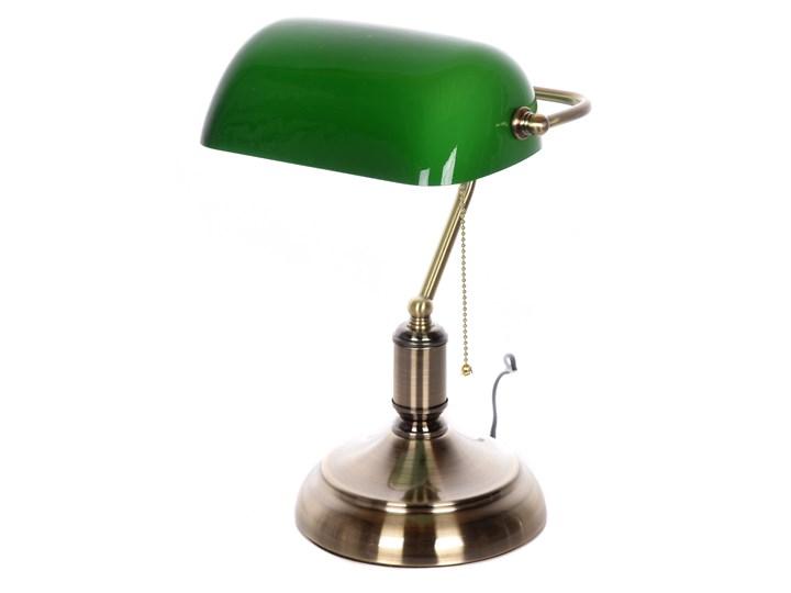 KLASYCZNA LAMPA BANKIERSKA BIURKOWA ZIELONA BANKER CLASSIC Lampa gabinetowa Lampa biurkowa Lampa regulowana Kolor Zielony