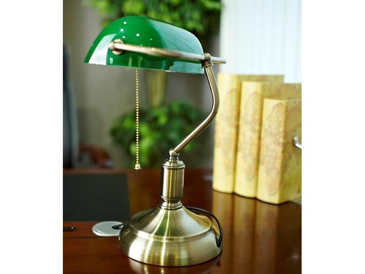 KLASYCZNA LAMPA BANKIERSKA BIURKOWA ZIELONA BANKER CLASSIC Lampa biurkowa Lampa regulowana Lampa gabinetowa Kolor Zielony