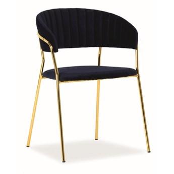 Krzesło jadalniane z dwuczęściowym siedziskiem Lira Velvet