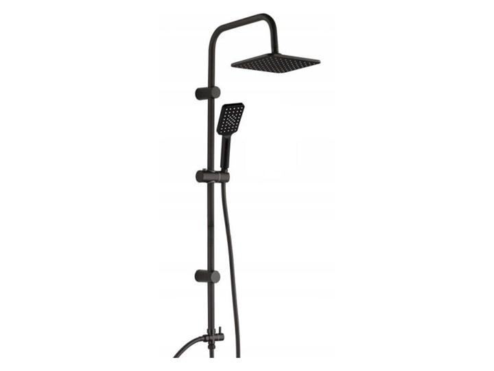 Kolumna prysznicowa Bodo śr. 21 cm czarna Kolor Czarny