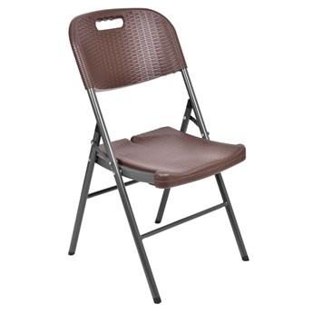 Krzesło cateringowe Rattan - brązowe