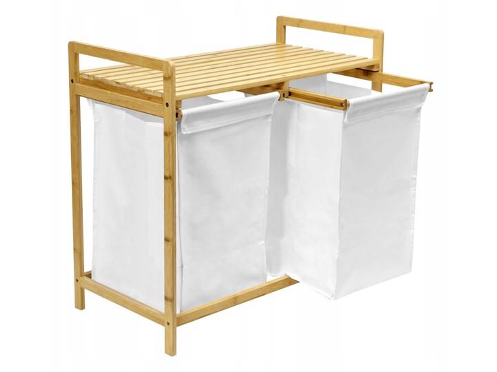 kosz na pranie bambusowy HANOI podwójny Kategoria Drewno Kolor Szary
