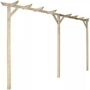 VidaXL Pergola ogrodowa, 400 x 40 x 205 cm, drewno