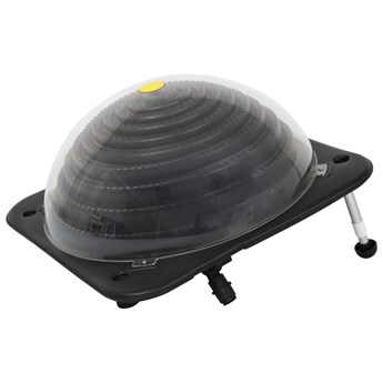 VidaXL Solarny podgrzewacz basenowy, 75x75x36 cm, HDPE, aluminium