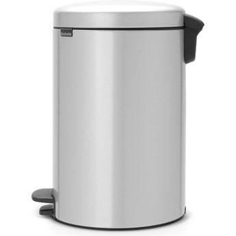 Kosz na śmieci kuchenny pedałowy 20l NewIcon Brabantia metaliczny szary kod: 11 40 69