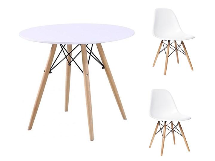 HOME DECOR ZESTAW PARIS STÓŁ 90 CM + 2 KRZESŁA NA NOGACH BUKOWYCH DSW DSR Kategoria Stoły z krzesłami