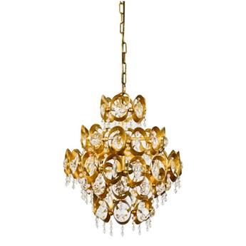 Złota lampa wisząca SINES żyrandol do salonu w stylu glamour