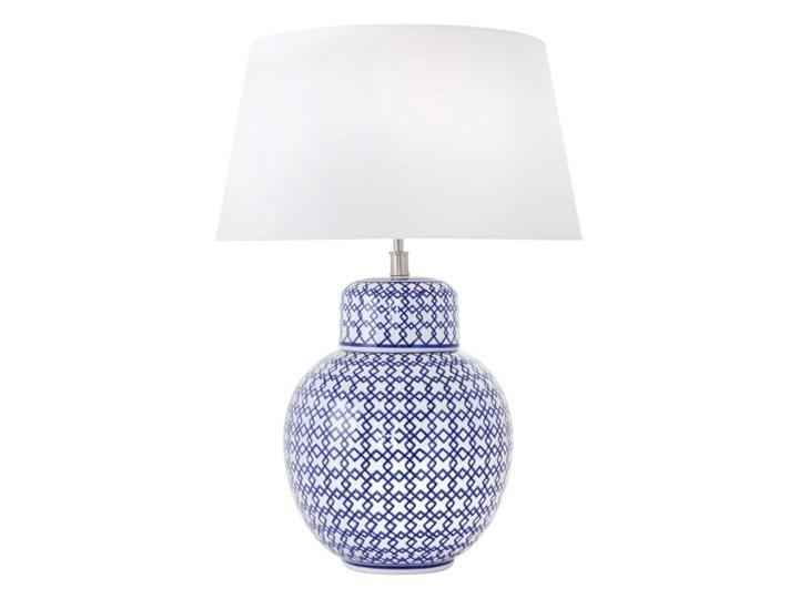 Lampa ceramiczna niebieska MAKAU w stylu hampton
